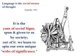 language is the social means of thought vygotsky 1934
