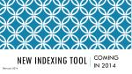 new indexing tool