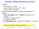 example sliding window w o errors