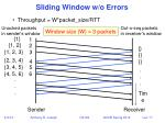 sliding window w o errors