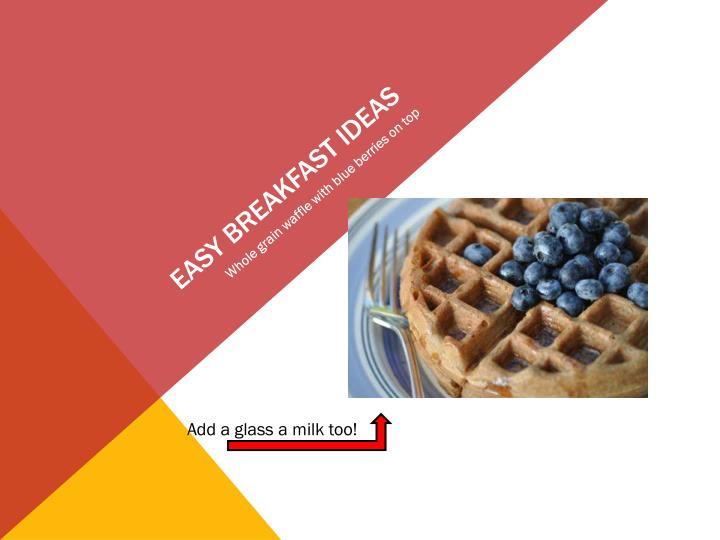 Easy Breakfast ideas