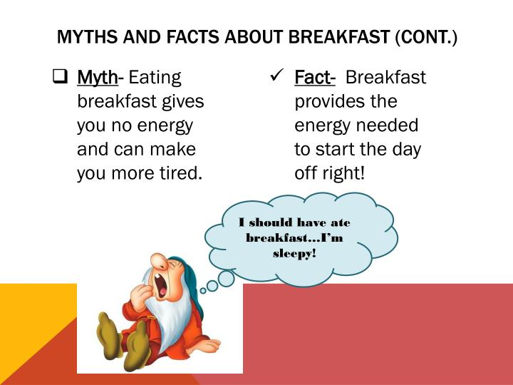 Myths and facts about breakfast cont
