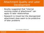 attachment quality and later development1