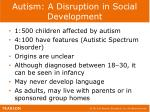 autism a disruption in social development1