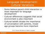language development cultural variations