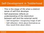 self development in toddlerhood