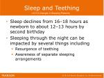 sleep and teething