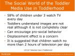 the social world of the toddler media use in toddlerhood