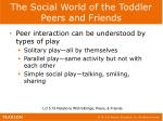 the social world of the toddler peers and friends