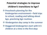 potential strategies to improve children s transitions to kgn