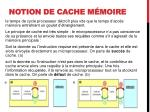 notion de cache m moire