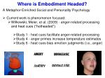 where is embodiment headed1