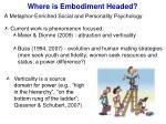 where is embodiment headed2