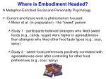 where is embodiment headed6