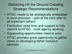 delivering hit the ground crawling strategic recommendations