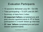 evaluation participants