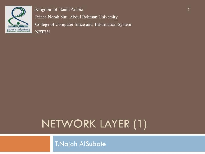 network layer 1 n.