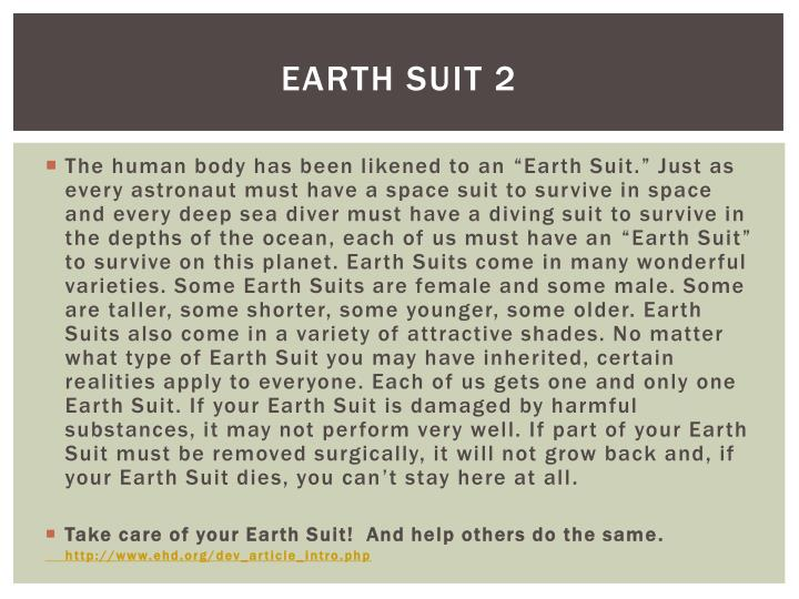 Earth suit 2