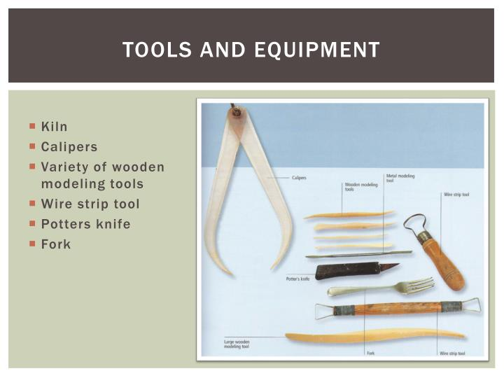 Tools and equipment