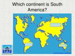 which continent is south america