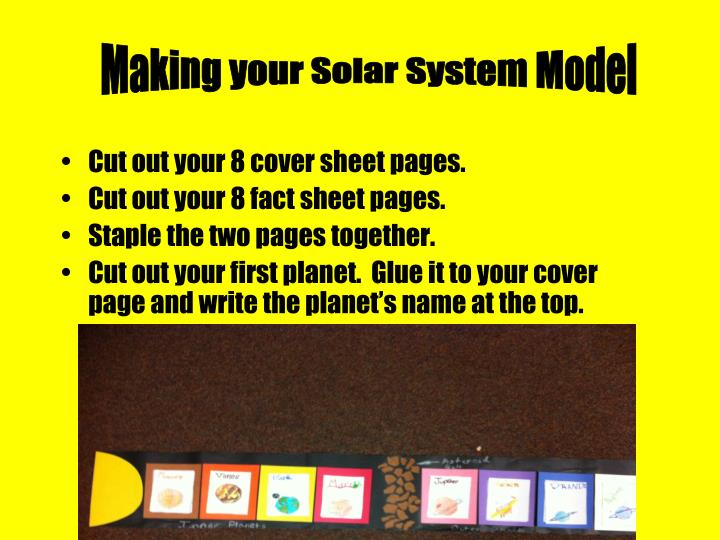 Making your Solar System Model