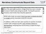 narratives communicate beyond data
