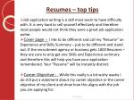 resumes top tips