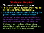 what about discipline