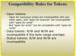 compatibility rules for tokens