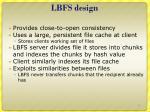 lbfs design