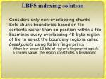 lbfs indexing solution