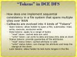 tokens in dce dfs