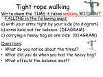 tight rope walking