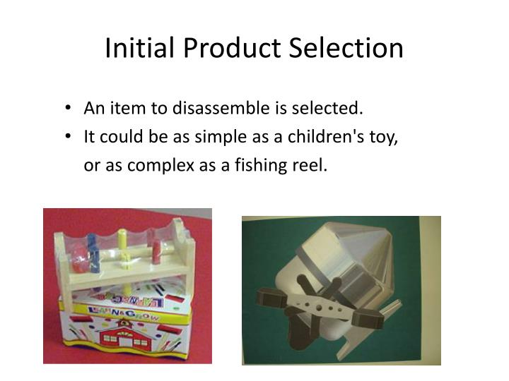 Initial Product Selection