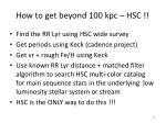 how to get beyond 100 kpc hsc