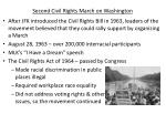 second civil rights march on washington