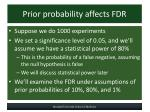prior probability affects fdr