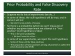 prior probability and false discovery rate