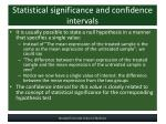 statistical significance and confidence intervals