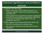 statistical significance and confidence intervals1