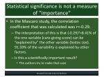 statistical significance is not a measure of importance