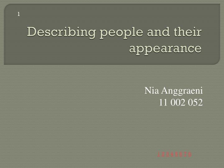 describing people and their appearance n.