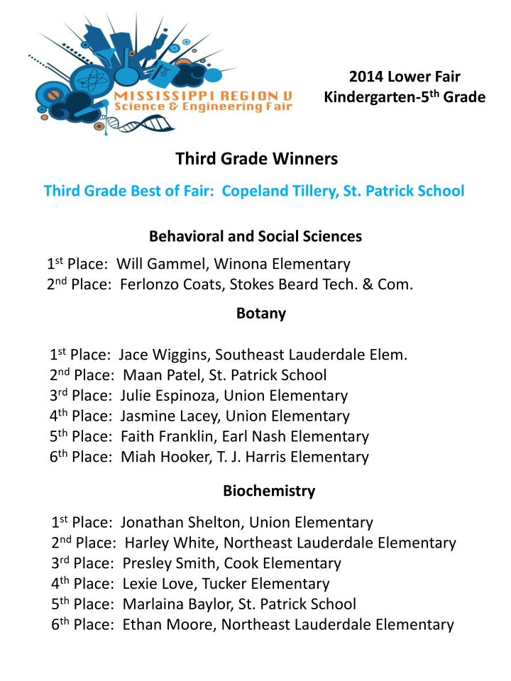 third grade winners n.