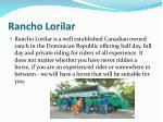 rancho lorilar