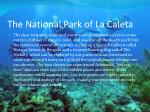 the national park of la caleta