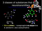 3 classes of substances that act as neurotransmitters