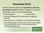 prevention first