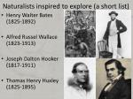 naturalists inspired to explore a short list