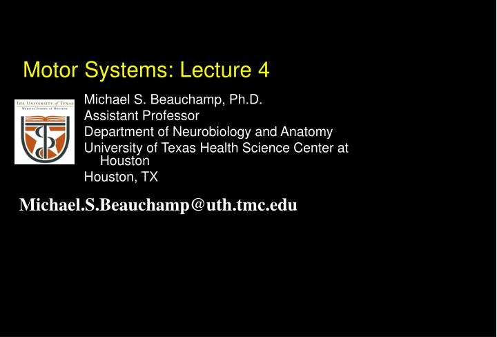 motor systems lecture 4 n.