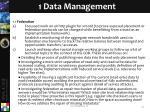 1 data management
